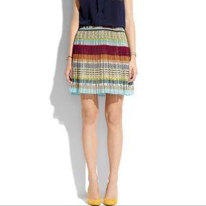 Madewell Broadway & Broome Pleated Mini Skirt Sz 2